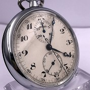 andreas huber berlin vintage chronograph monopusher pocket watch with orig box 3