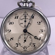 andreas huber berlin vintage chronograph monopusher pocket watch with orig box 4